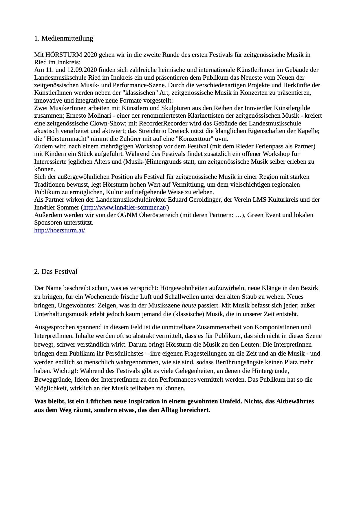 Pressedossier 2020-2