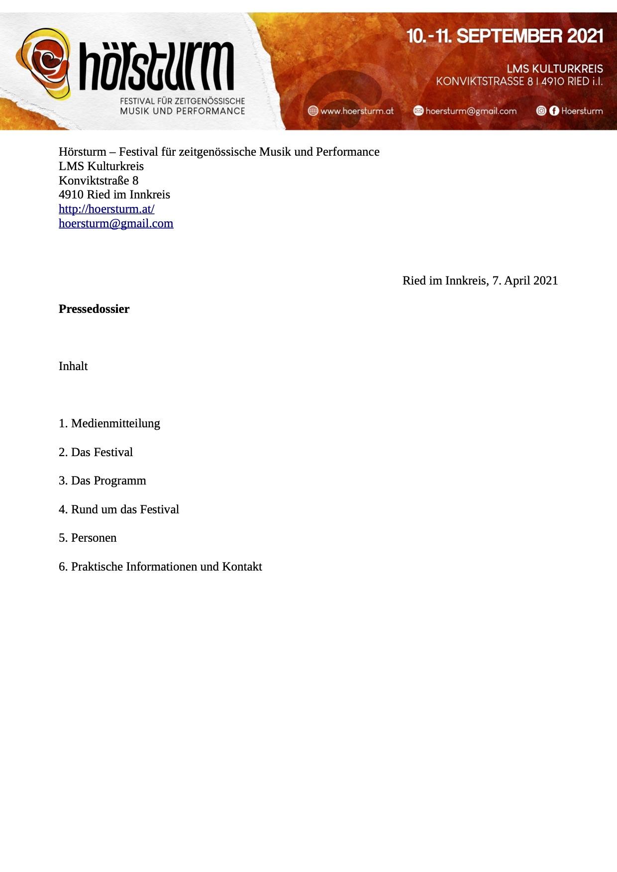 Pressedossier 2021